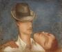 N003 Человек в шляпе, Х.м. 50Х60 см.