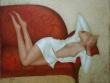"""""""Красный диван"""" 70X90cm.Холст, масло"""