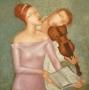 """""""Концерт для скрипки"""" Холст, масло. 76X76cm."""
